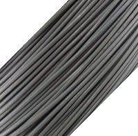 Genuine Leather Cord - 1mm - Round- Dark Gray