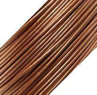 Genuine Leather Cord - 1mm - Round- Metallic Bronze