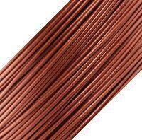 Genuine Leather Cord - 1mm - Round- Metallic Copper