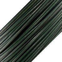Genuine Leather Cord - 1mm - Round- Dark Green