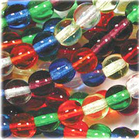 Czech Glass Druk 6mm Round Rainbow Mix
