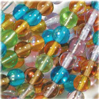Czech Glass Druk 6mm Round Prairie Mix (50)