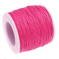 1mm Waxed Cotton Cord Hot Pink