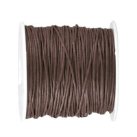 1mm Waxed Cotton Cord Brown