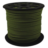 Faux Leather Suede Beading Cord, Hunter Green