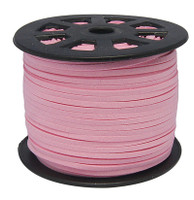 Faux Leather Suede Beading Cord, Light Pink (10 feet)