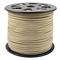 Faux Leather Suede Beading Cord, Cream Beige