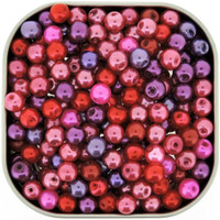 UnCommon Artistry Glass Pearl Mix 200pcs 6mm - Valentine's Mix