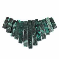 Malachite Gemstone Fan - Bib - 13 piece Dagger Collar