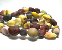 "Mookaite Polished Tumbled Stones - Nuggets 16"" Strand"