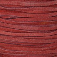 Genuine Split Suede Leather Lace Cord 3mm Red