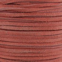 Genuine Split Suede Leather Lace Cord 3mm Pink