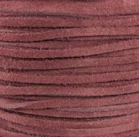 Genuine Split Suede Leather Lace Cord 3mm Maroon