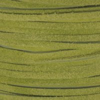 Genuine Split Suede Leather Lace Cord 3mm Lime Green
