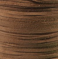 Genuine Flat Suede Leather Lace Cord 3mm Camel