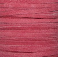 Genuine Flat Suede Leather Lace Cord 3mm Pink