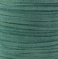 Genuine Flat Suede Leather Lace Cord 3mm Turquoise