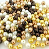 UnCommon Artistry Glass Pearl Mix 200pcs 4mm - Mocha Latte Mix