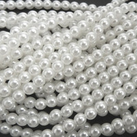 UnCommon Artistry Glass Pearl Beads 200pcs 6mm - White