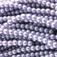 Glass Pearl Beads 75pcs 8mm - Lilac