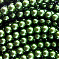Glass Pearl Beads 75pcs 8mm - Evergreen