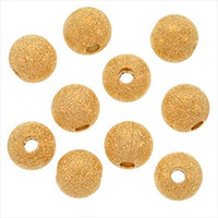 22K Gold Plated Stardust Sparkle Round Beads 8mm (25)