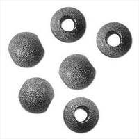 Gun Metal Plated Stardust Sparkle 12mm Round Beads (Large Hole) (10)