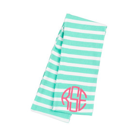 Kids' Mint Stripe Scarf