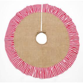 Stripe Burlap Tree Skirt