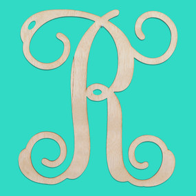 Single Initial Wood Monogram- 12 Inch
