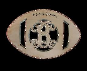 """18"""" Football Wood Monogram"""