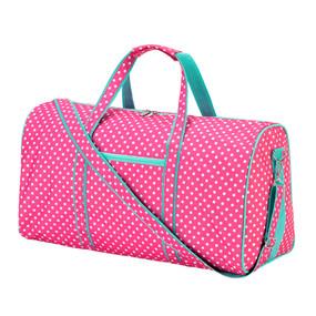Pink Dottie Duffel Bag