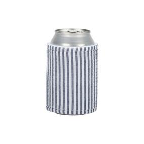 Navy Seersucker Drink Wrap
