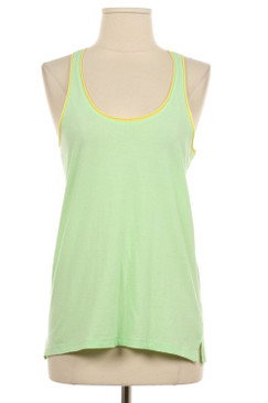 Contrast Tank Top - Spring Green