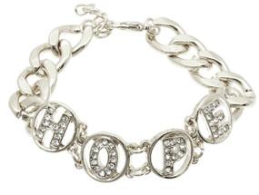 Crystal Stone Hope Link Bracelet