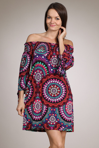Here and Now Dress - Purple