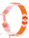 Bracelet / Patterned Iridescent Microbead / Adjustable / Tassel / 2 1/4 Inch Diameter / 3/8 Inch Tall / Nickel And Lead Compliant