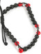 Bracelet / Lucite And Metallic Bead / Adjustable Cord / 2 1/4 Inch Diameter / 1/4 Inch Tall / Nickel And Lead Compliant