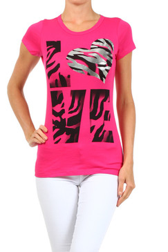 Love Knit T-Shirt - Pink
