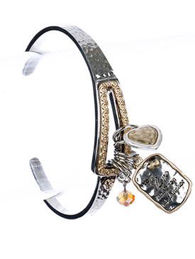 Bracelet / Love / Charm / Your Love Has Been My Anchor / Cuff / 2 1/2 Inch Diameter / Nickel And Lead Compliant