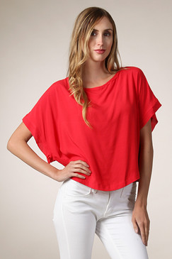 Sealed with a Kiss Top - Red