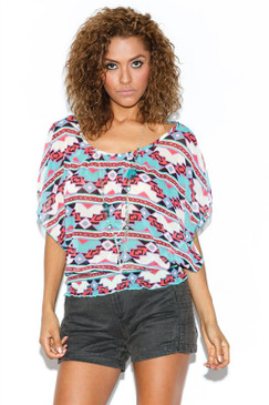 When I Fall in Love Top with Necklace