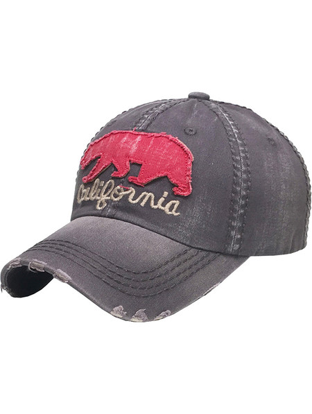 HAT AND CAP / BIG BEAR CALIFORNIA / DISTRESSED AND FADED / STITCHED / BUCKLE BACK / ADJUSTABLE / ONE SIZE / NICKEL AND LEAD COMPLIANT