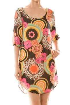 Luxe Unique Print Chiffon Dress