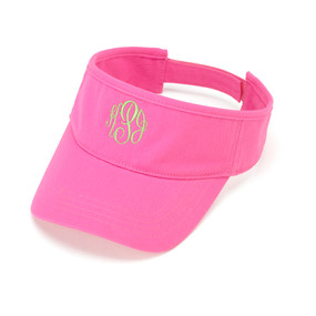 Hot Pink Twill Visor