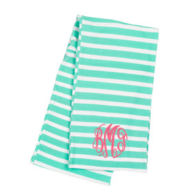 Mint Stripe Scarf