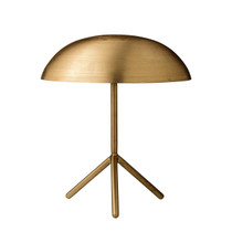 TABLE LAMP, Tripod, Brushed Gold