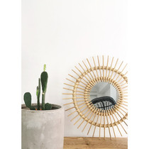 MIRROR, Sun, Natural Rattan, 60cm