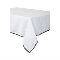 LINEN TABLECLOTH, Letia, White