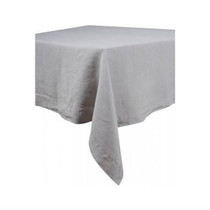 LINEN TABLECLOTH, Nais, Light Grey